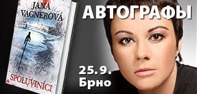 Autogramiáda spisovatelky Jany Vágner v Brně - Spoluviníci